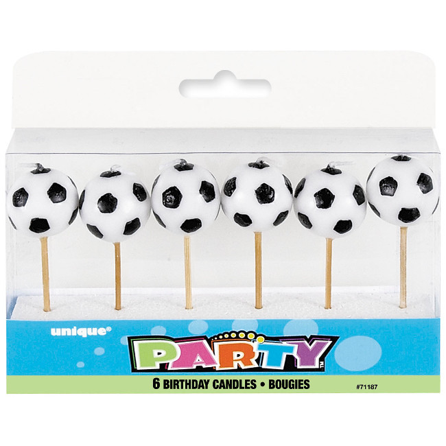 6 Football Pick Birthday candles
