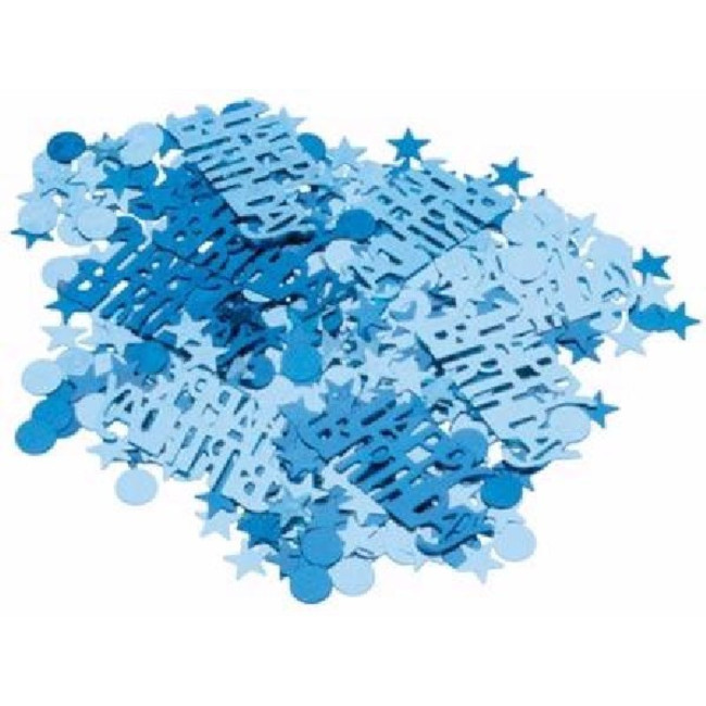 Foil Blue Happy Birthday confetti 14gr