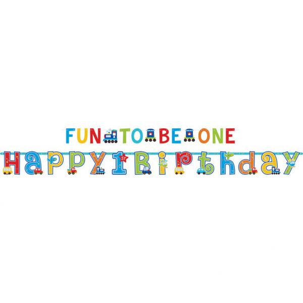 Letter Banner 1st All Aboard Birthday (2pcs)