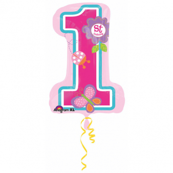 Foil Balloon SuperShape 1st Birthday 48cmX71cm