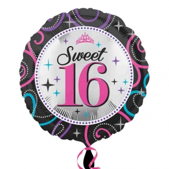Foil Balloon Sweet Sixteen
