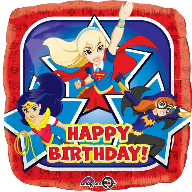 "Μπαλόνι ""DC Super Hero Girls Happy Birthday"""