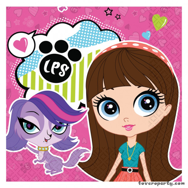 20 Napkins Littlest Pet Shop 33cmX33cm