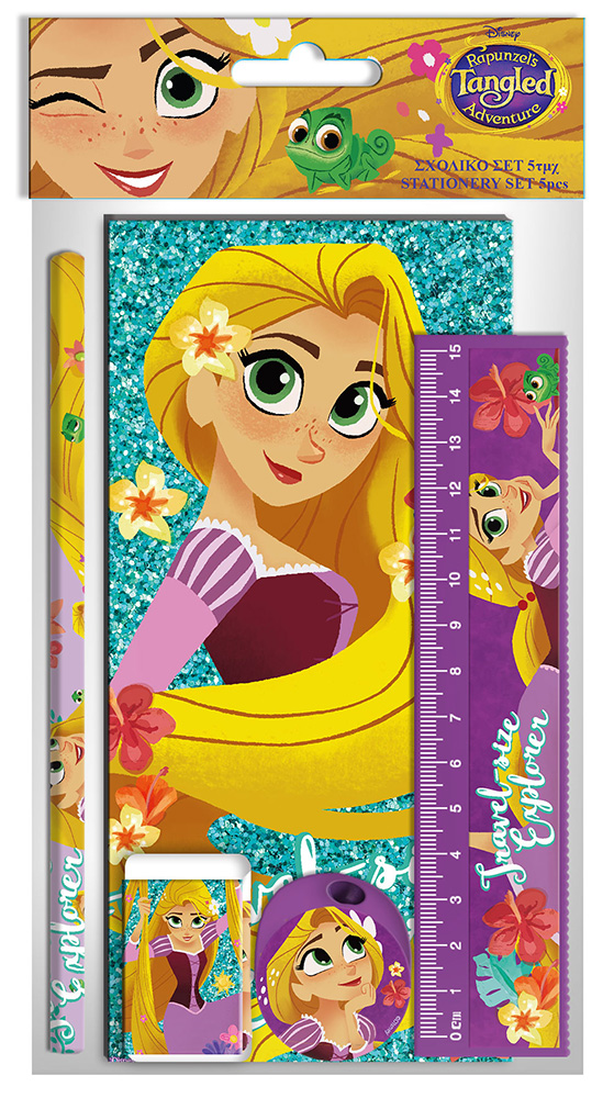 Stationery Pack Tangled (5pcs)