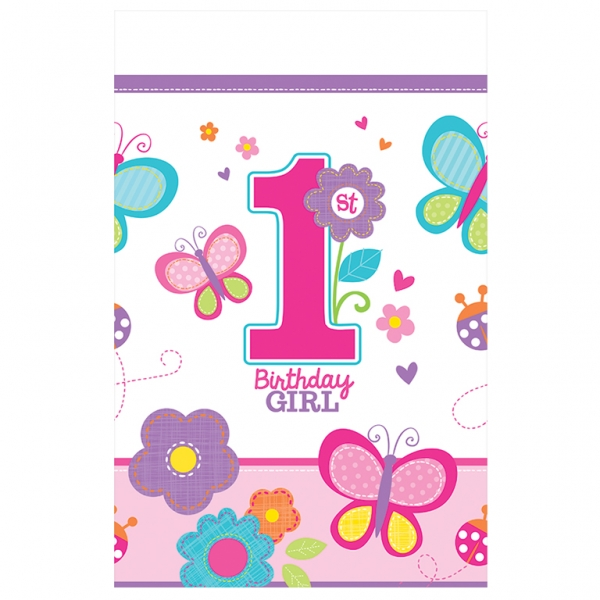 1st Birthday Sweet Girl Tablecover