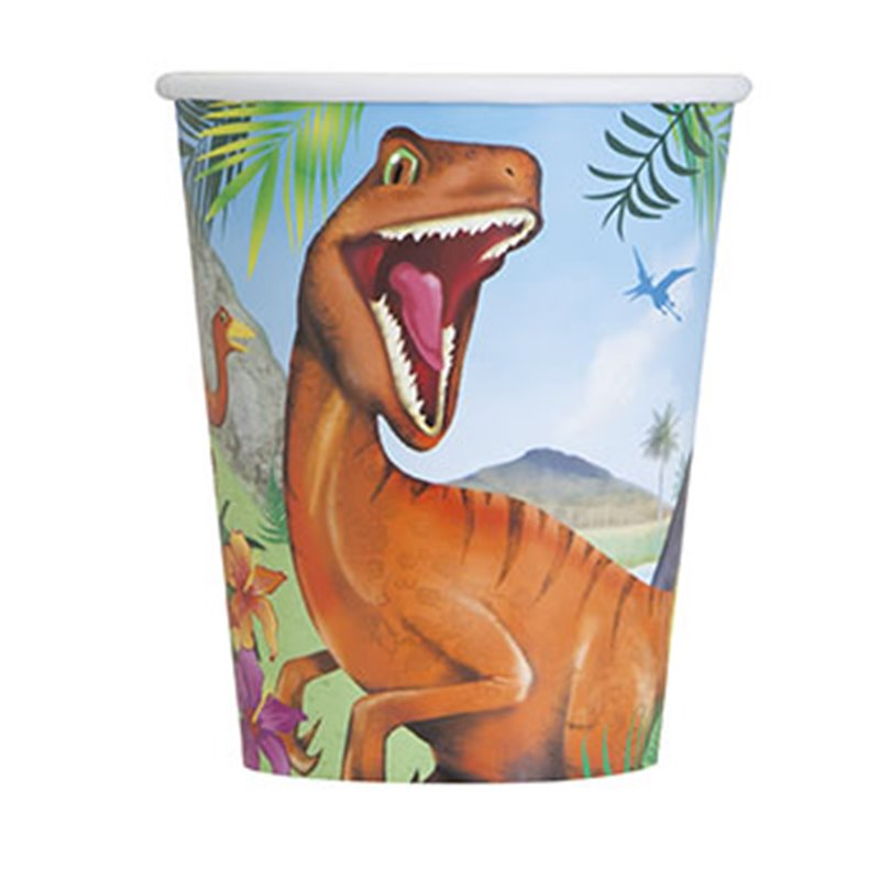 8 Cups Dinosaur 266ml