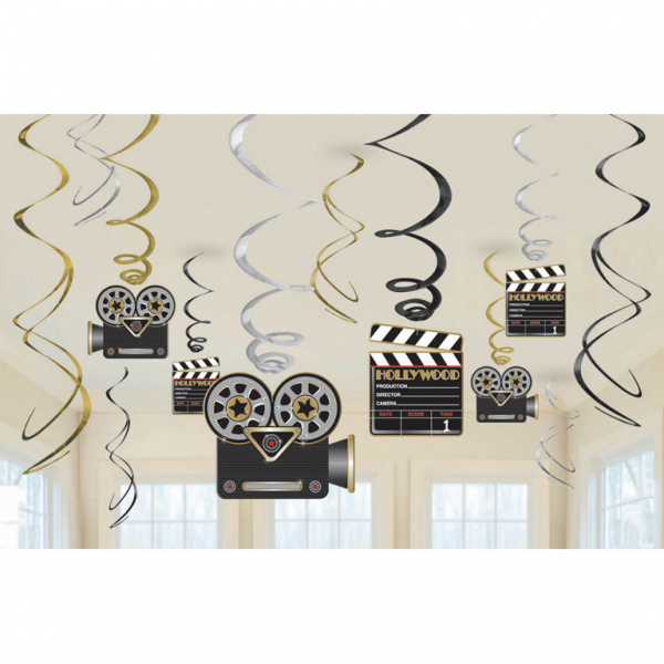 12 Swirl Decorations Hollywood 61 cm