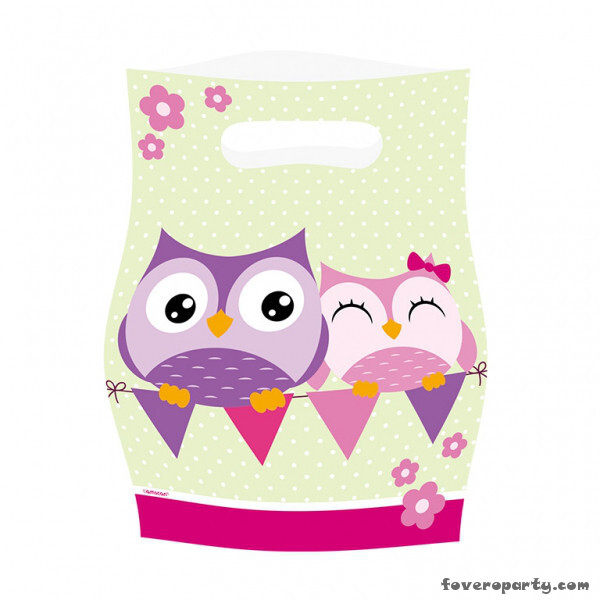 8 Party Bags Owl
