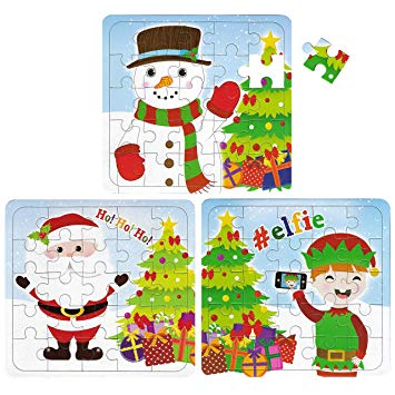 Christmas Jigsaw Puzzle (1pc) Assorted designs