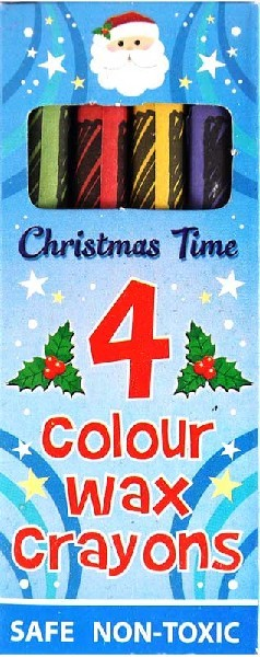 Crayons Christmas Set 4pcs