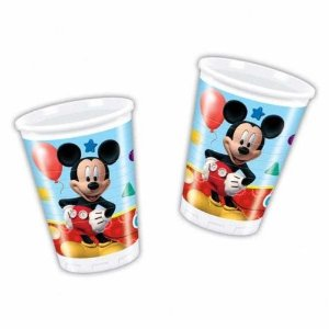 8 Plastic Cups 20cl Mickey Mouse Clubhouse