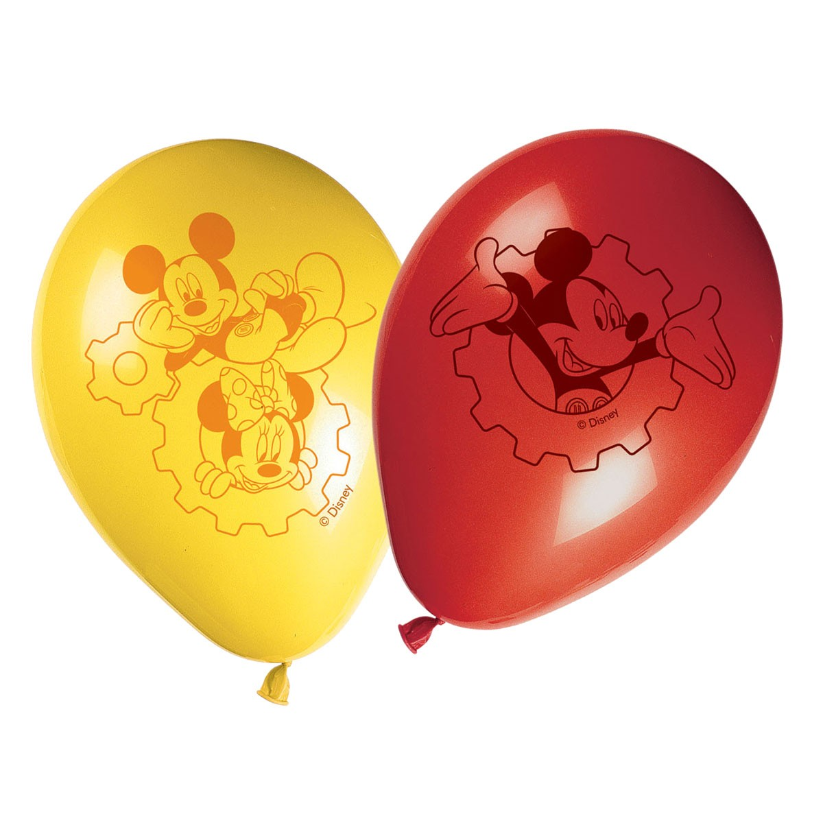 Latex Balloons Mickey Mouse 22cm (8pcs)