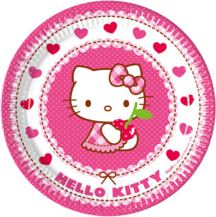 8 Plates Hello Kitty 23cm