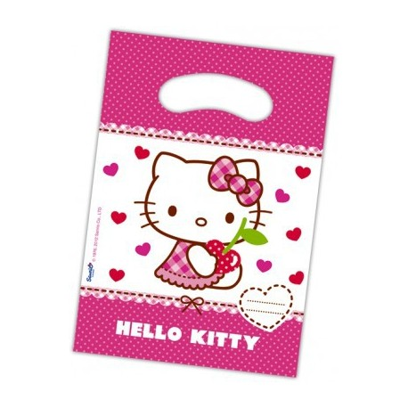 6 Party Bags Hello Kitty