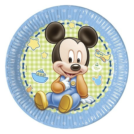 8 Plates Baby Mickey 23cm