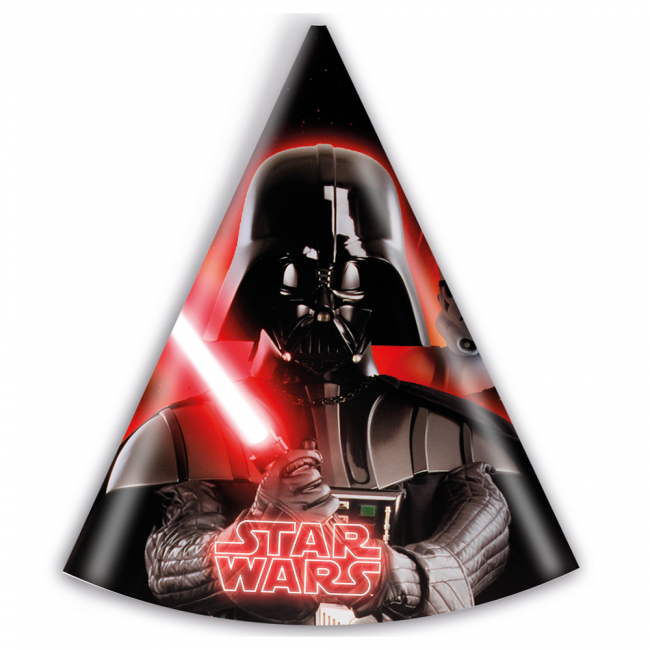 6 Party Hats Star Wars