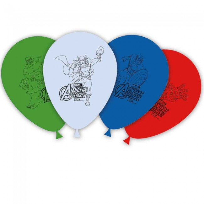 Latex Balloons Avengers 27cm (8pcs)