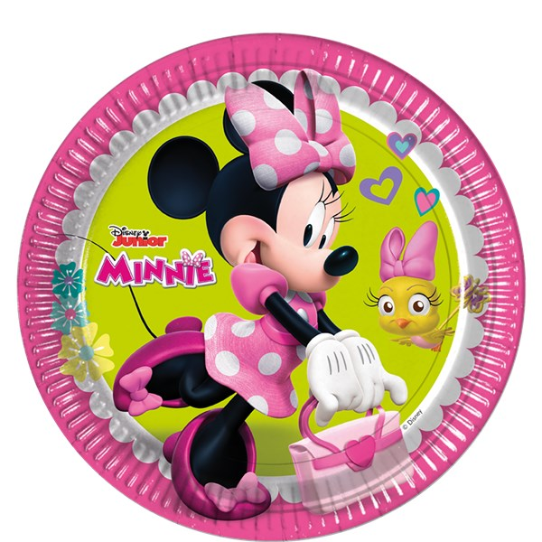 8 Plates Minnie Mouse Clubhouse 23cm