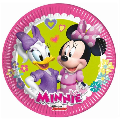 8 Plates Minnie Mouse Clubhouse 19cm