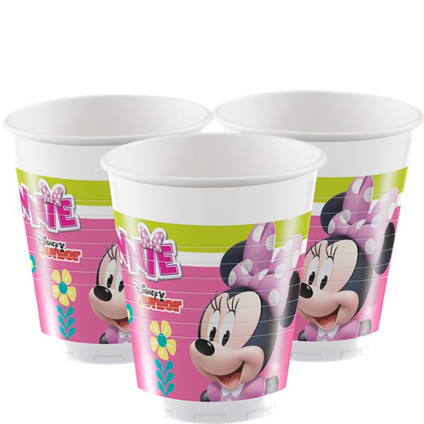 8 Plastic Cups Minnie Mouse Clubhouse 200ml