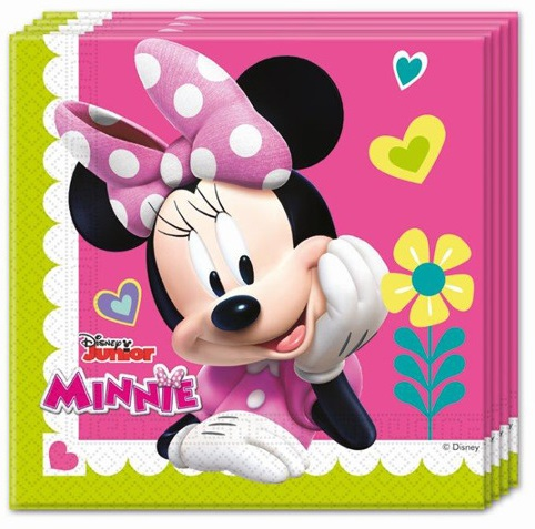 20 Napkins Minnie Mouse Clubhouse 33X33cm