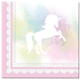 20 Napkins Believe in Unicorns 33x33cm 2ply