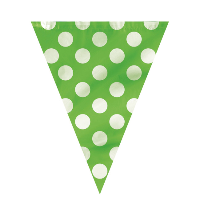 Flag Banner Lime green with dots 3.65m