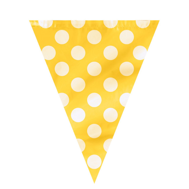 Flag Banner Yellow with dots 3.65m