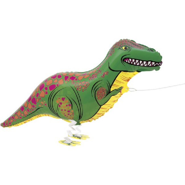 Walking Pet Dinosaur Foil Balloon
