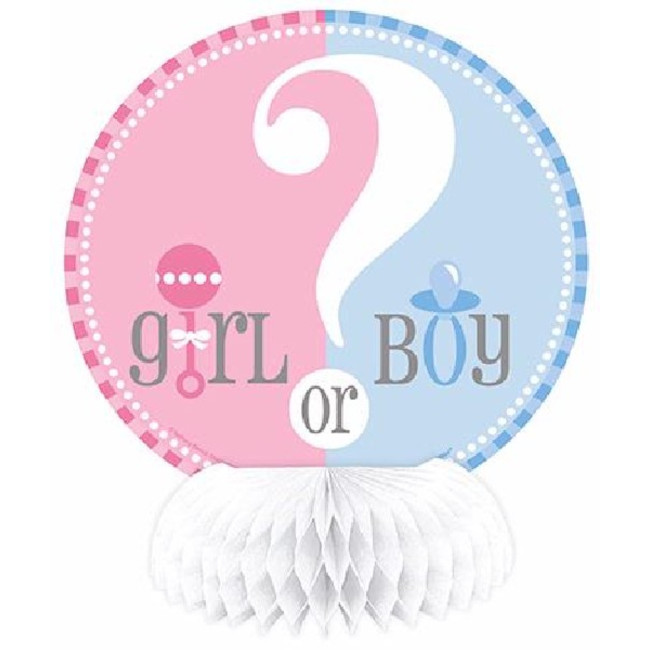 Mini Honeycomb Decoration Gender Reveal (4pcs)