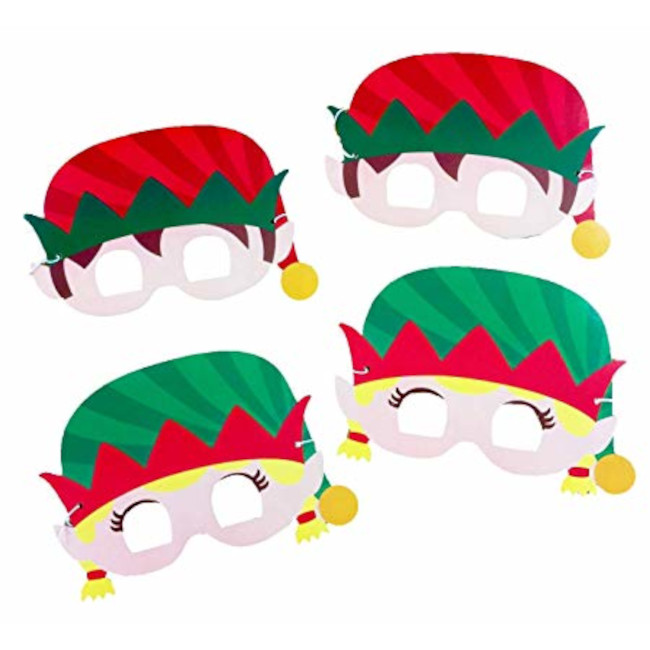 Christmas Elf Masks (4 pcs)