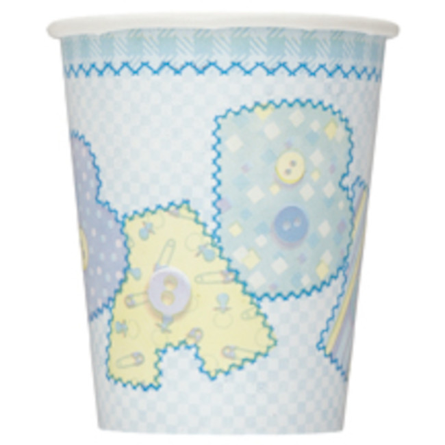 8 Cups Light Blue Baby shower