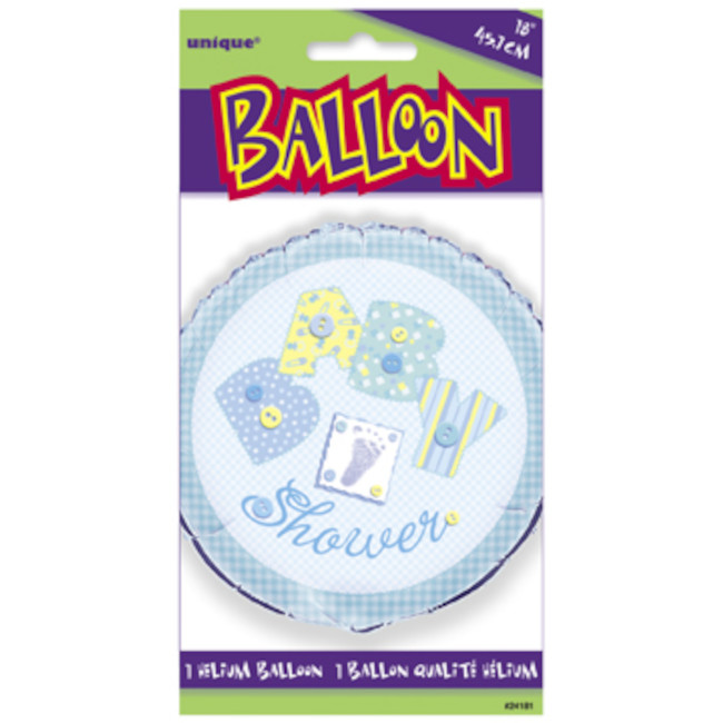 Foil Balloon Baby Stitching Blue 45cm