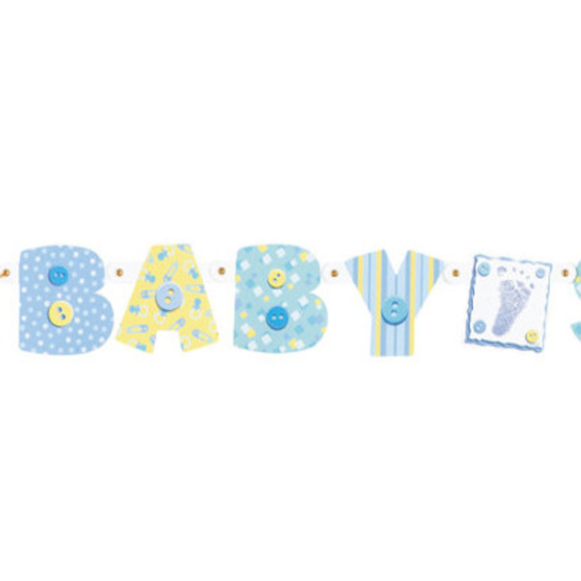 Light Blue Jointed Banner Baby Shower