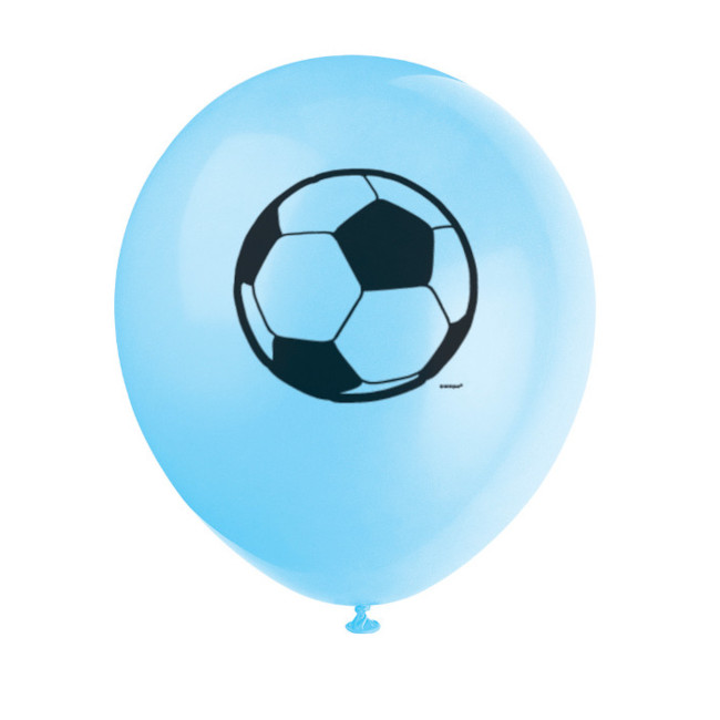 8 Balloons 30cm Assorted colours Football