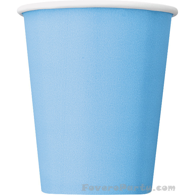 14 Paper Cups Light Blue 260ml