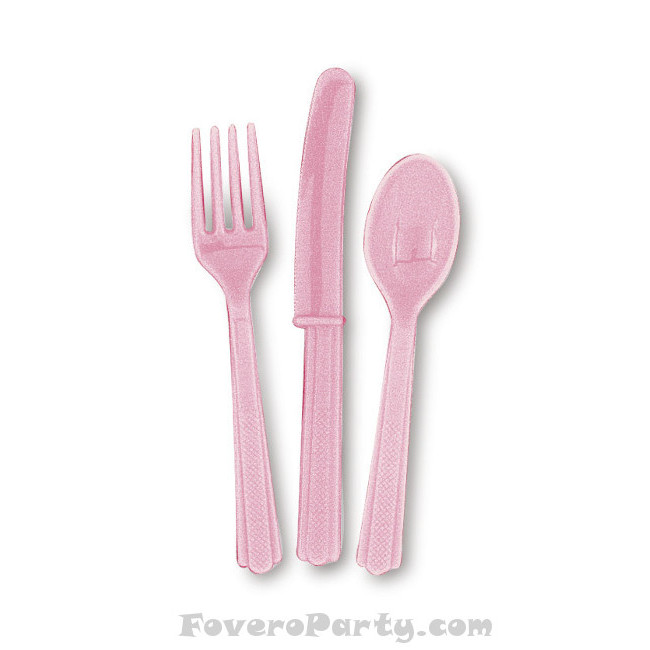 6 Set Cutlery Pink (18pcs)