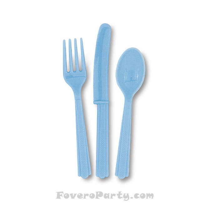 6 Set Cutlery Light Blue (18pcs)