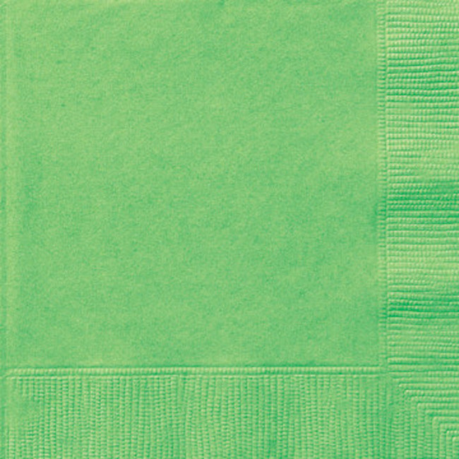 20 Napkins Lime green 33X33cm