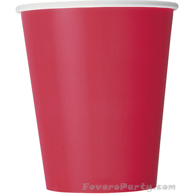 14 Paper Cups Red 260ml