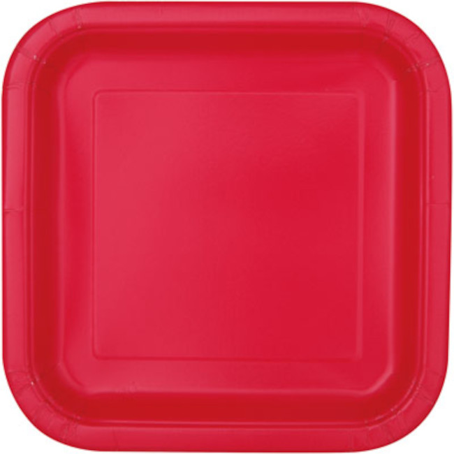 14 Paper Plates Red 23cm
