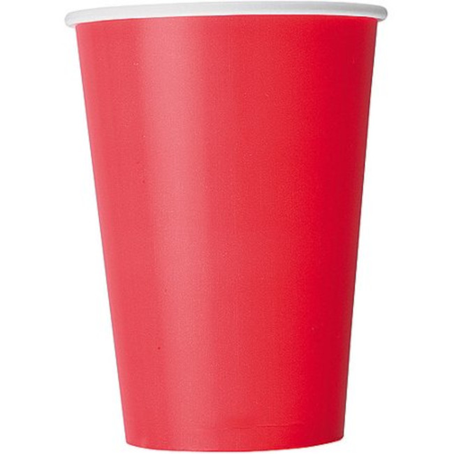 10 Paper Cups Red 350ml