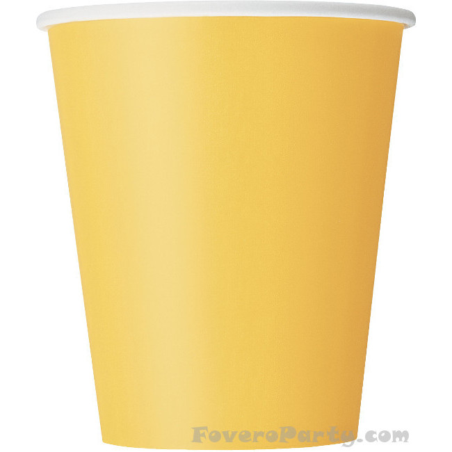 14 Paper Cups yellow 260ml
