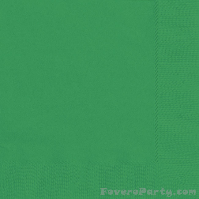 20 Napkins Emerald Green 33X33cm