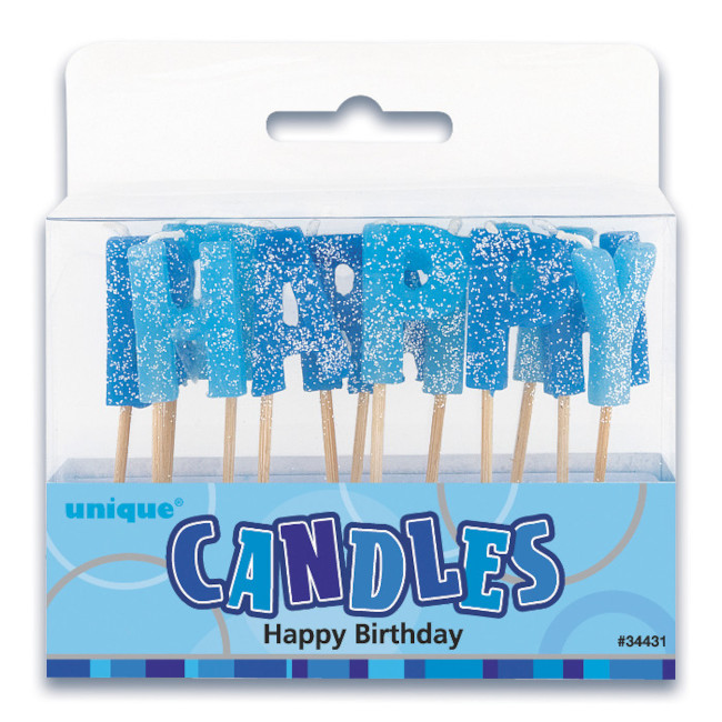 Candles Happy Birthday Blue