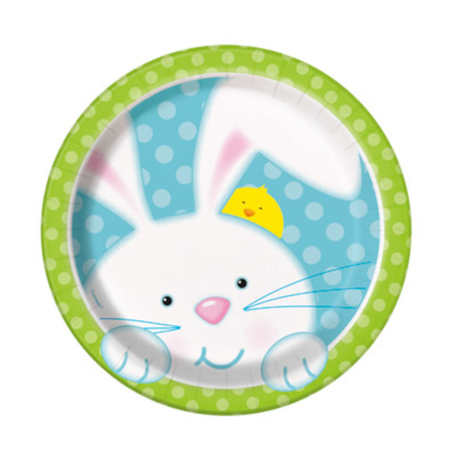 8 Plates Easter Bunny 18cm