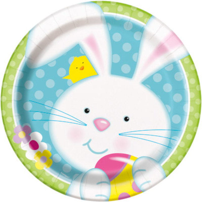 8 Plates Easter Bunny 23cm