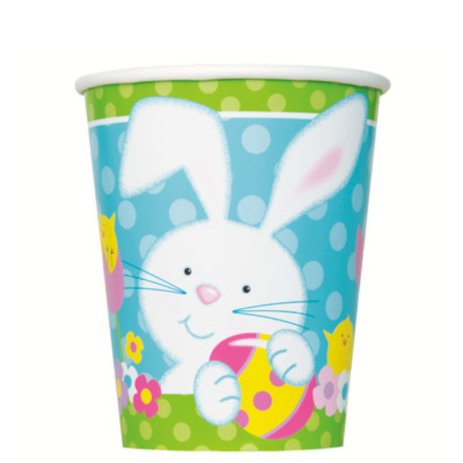 8 Paper Cups Easter Bunny