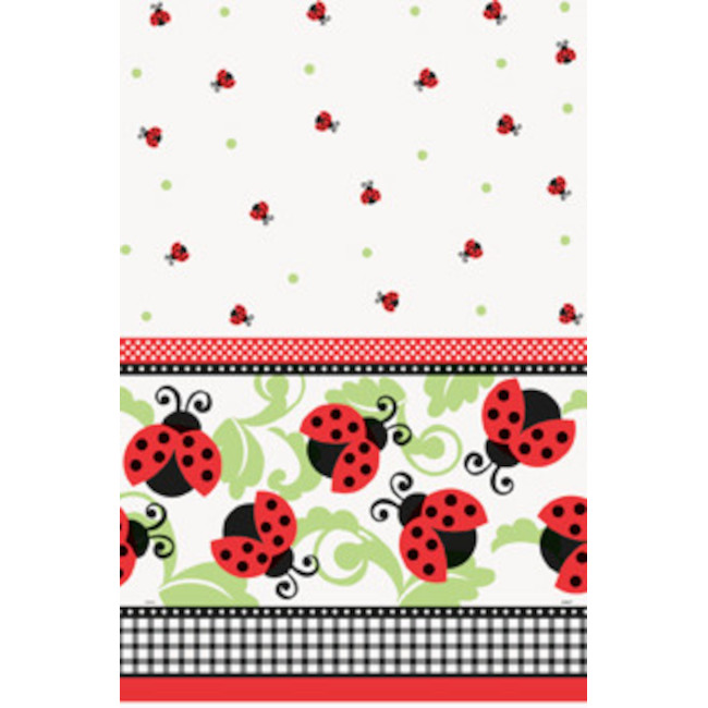Plastic Tablecover Ladybugs