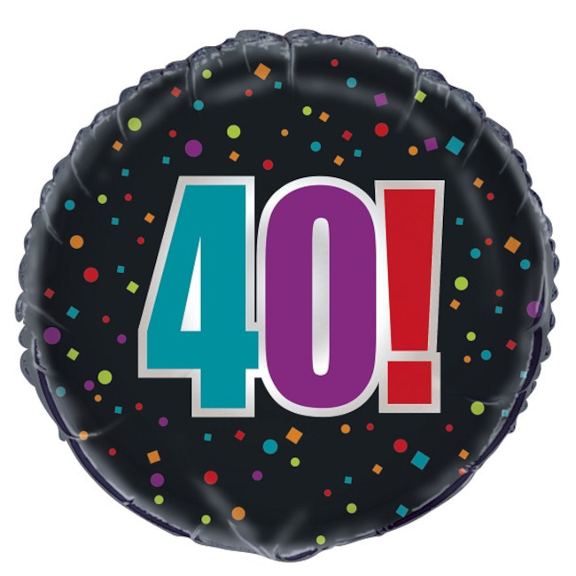Foil Balloon 40th Birthday 45cm